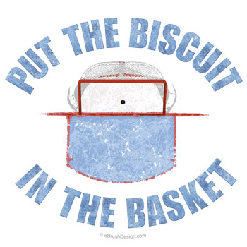 Put the Hockey Biscuit in the Basket